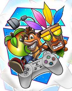 playstation dibujo Crash Bandicoot - - Ideas of - Crash Bandicoot Crash Bandicoot Ps4, Crash Bandicoot Tattoo, Crash Bandicoot Characters, Cartoon Tattoos, Cartoon Drawings, Vexx Art, Gaming Wallpapers, Video Game Art, Game Character