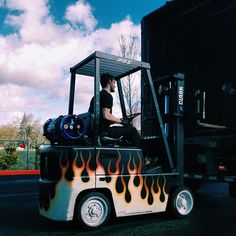 No one said a #forklift paint job has to be boring