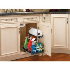 Rev-A-Shelf�11.25-in W x 16.25-in D x 19.5-in H 1-Tier Metal Pull Out Cabinet Basket- Its removable to take to the cleaning site!! $43