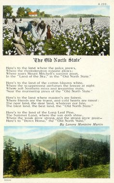 """The Old North State"" - North Carolina State Song"