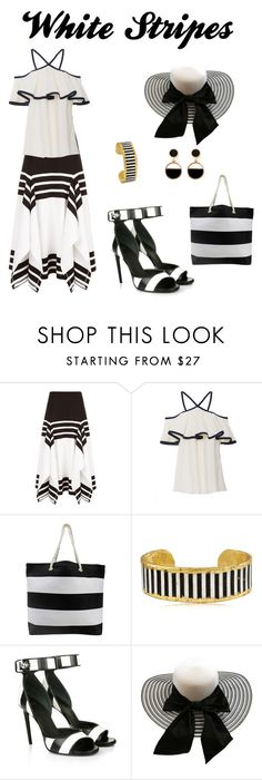 """White Stripes"" by chauert ❤ liked on Polyvore featuring Rosetta Getty, MDS Stripes, Évocateur, Givenchy and Warehouse"