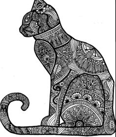 Henna Cat by snyderak, via Flickr
