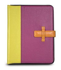 Love the colorblocking on this ipad case.