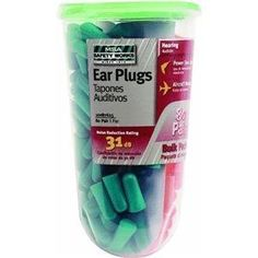 MSA Safety Works 10087625 Foam Ear Plugs, Orange and Green, 80-Pairs (Tools & Home Improvement)