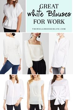 Update Your Look With Today's Latest Fashion Accessories – Designer Fashion Tips White Blouse Outfit, Work Fashion, Fashion Outfits, Womens Fashion, Fashion Trends, Fashion Ideas, Fashion Inspiration, Business Casual Outfits, Work Blouse