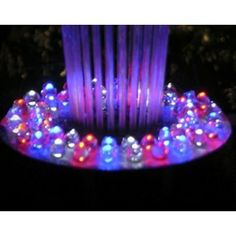 Floating Spray Fountain w LED Light with Mini Tool Box (fs) . $293.95. Includes 48 LED lights, 530 GPH pump with 33 foot cable, an outdoor transformer with cable and anchorFountain sprays as high as 3 feetLED lights with red, white and blue changing color12 in. Dia. x 6 in. H (7.41 lbs.) This Spray Fountain sprays water into the air creating a soothing sight and relaxing atmosphere adding vitality to an ordinary landscape. Livens up an ordinary pond or pool, a definite con...