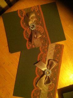 Antique lace wedding invitation