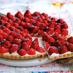 This strawberry tart recipe looks and tastes extremely decadent, but in fact the ricotta makes it very light