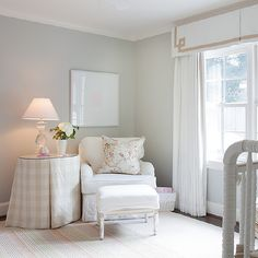 Pink and grey nursery curtains kids window treatments pottery barn pertaining remarkable for girl ideas with . grey and white nursery bedding Baby Room Neutral, Nursery Neutral, Tan Nursery, Bright Nursery, Nautical Nursery, Nursery Room, Gender Neutral, Nursery Window Treatments, Chic Nursery