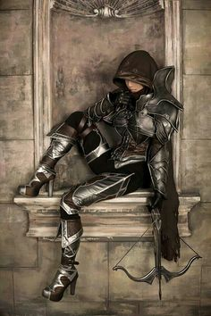 hmmm looks like skyrims nightengale armor with a twist