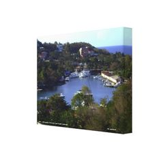 Another View Of The  Stunning Caribbean Bay Canvas Print - decor diy cyo customize home