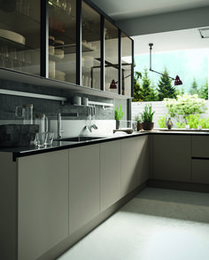 Eko Kitchen: Gloss lacquers and woods.