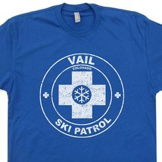 Vail Colorado, Ski Patrol Men's T-Shirt