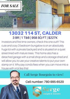THIS IS IT!! A great bargain considering this home has 3 bedrooms situated in a big lot with a private backyard. Yes! http://mvnt.us/m284210  Call us today @ 780-634-8151 for more information.  Search all homes for sale on the Edmonton MLS by visiting http://ift.tt/1F48U4I  #calderedmonton #homesforsaleedmonton #edmontonrealestate #edmontonproperties  #edmontonhousesforsale #teamleadingedge #findmyhouse | Visit us at FindMyHouse.ca | Powered by Team Leading Edge