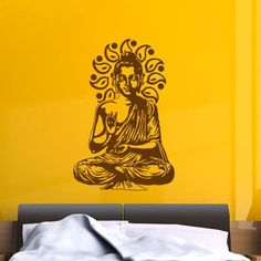 "Style and Apply Buddha Wall Decal Size: 36"" H x 24"" W, Color: Copper"