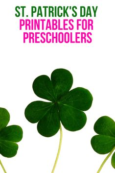St Patrick's Day Printables, Crafts and Activities for Kids, Preschoolers and Toddlers! Perfect for school, homeschool, tot school and the stay at home mom!