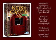 Outset Media – Keys to the Castle! ~Giveaway x 3 News Games, Giveaways, Keys, Castle, Neon Signs, My Love, Key, Castles