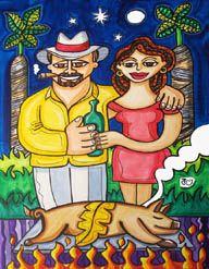 Limited Edition Prints   Tony Mendoza Art~Noche Buena (Christmas Eve)