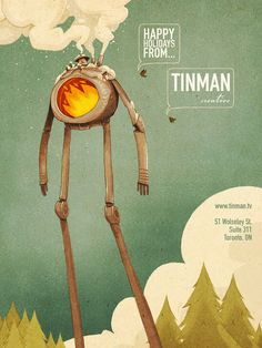 Happy Holidays from Tinman Creative Studios by Tinman Creative Studios , via Behance