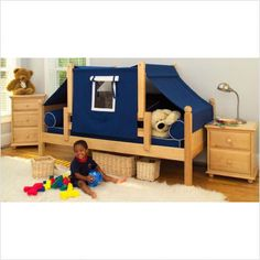 Toddler Boys Bedroom Sets on Toddlers Bed For Boys Maxtrix Kids Twin Daybed Top Tent Bedroom Set