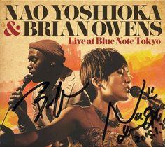 Autographed by Brian Owens & Nao Yoshioka@Blue Note TOKYO(2015.01.25)
