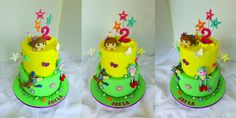 Design was brought in by client, by unknown cake artist. We just made some changes. Girly Birthday Cakes, Dora The Explorer, Girl Cakes, Children, Kids, Bakery, Artist, Desserts, Design