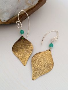Handmade Sterling Silver Earrings Brass by ClassyChicDesigns4u