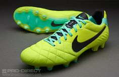(3) Nike Football Boots - Nike Tiempo Legend IV FG - Firm Ground - Soccer Cleats - Volt-Green Glow