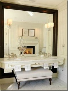 huge mirror for master bathroom-his and her plus