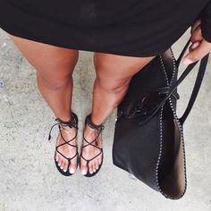 lace-up sandals//