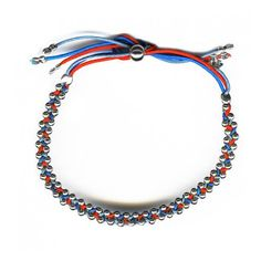 The Braided Pearl Bracelet red turquoise blue jean by Agnès