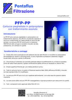 PFP - PP Cartucce pieghettate in polipropilene con trattenimento assoluto