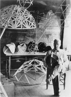 Buckminster Fuller | Neo-futuristic architect, systems theorist, author, designer & inventor | He developed numerous inventions, mainly architectural designs & popularized the widely known geodesic dome. He was the 2nd president of Mensa from 1974-1983.