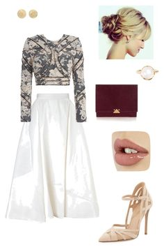See what happens by jbanna on Polyvore featuring polyvore, fashion, style, Zimmermann, Maticevski, Gianvito Rossi, Emporio Armani, Irene Neuwirth and Carolina Bucci