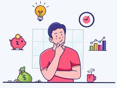Investment designed by Daniel . Connect with them on Dribbble; Outline Illustration, Flat Design Illustration, Character Illustration, Vector Character, Character Design, Animation Character, Character Sketches, Illustrations And Posters, Motion Design