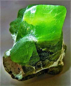 Chrysolite / Peridot: adorning the foundation (Rev. Green Gemstones, Minerals And Gemstones, Rocks And Minerals, Natural Crystals, Stones And Crystals, Natural Gemstones, Gem Stones, Mineral Stone, Rocks And Gems