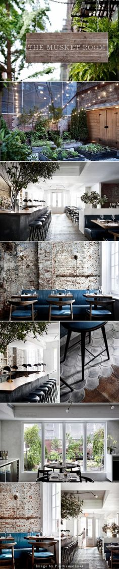 restaurant bar, retro, vintage style, great choice of furniture, lots of greens…