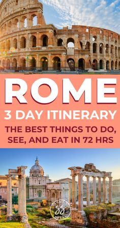 Discover how to spend the perfect 3 days in Rome. This itinerary covers how to visit the Colosseum, the Trevi Fountain, and other historical sites. Italy Travel Tips, Rome Travel, Europe Travel Guide, Travel Destinations, Travelling Tips, Holiday Destinations, Budget Travel, Travel Guides, Backpacking Europe