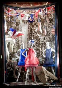 july 4th window displays | berdorf goodman s display windows in 2008