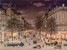 Michel Delacroix French Artist  Les Grands Boulevards