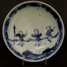 An Unusual Late Ming Blue and White Porcelain Dish, Transitional Period, Tianqi or Chongzhen c.1620-1640