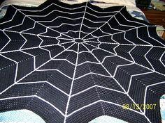 Spiderweb Afgan Blanket Free Crochet Pattern