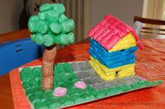 Tante piccole idee realizzate: Costruire con i mattoncini ecologici: la casetta