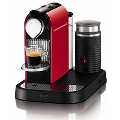 Krups - Nespresso Citiz & Aeroccino Red Coffee Maker XN7305
