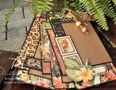 Tag Set with Paper Stitching Tutorial Graphic 45, Simple Embroidery, Embroidery Stitches, Safari Adventure, Mini Album Tutorial, Printable Planner, Printables, Twine, Mini Albums