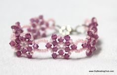 Learn to make jewelry making and beading - FREE - Beaded Kid Bracelet Beading Jewelry Making Tutorial T157