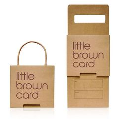 interesting packaging ideas for Giftcards