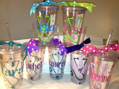Nurse's Day Personalized Tumblers w/Straw BPA Free 16 oz. Cheer, Dance, Bridal, Bacherlorette, Birthday, 30th, 40th, 50th on Etsy, $10.00