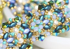Tutorial  Avelene Bracelet by bybeejang on Etsy