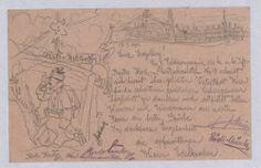 Rudolf Kristen an Richard Weiskirchner, Feldpostkorrespondenzkarte vom 21.01.1915. WBR, HS, H.I.N. 141535-2; copyright: Wienbibliothek, Handschriftensammlung, H.I.N. 141535-2 Sheet Music, Vintage World Maps, Poster, Objects, Music Sheets, Billboard